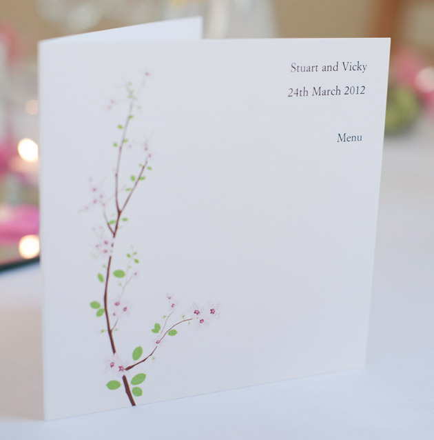Spring Theme Wedding Menu