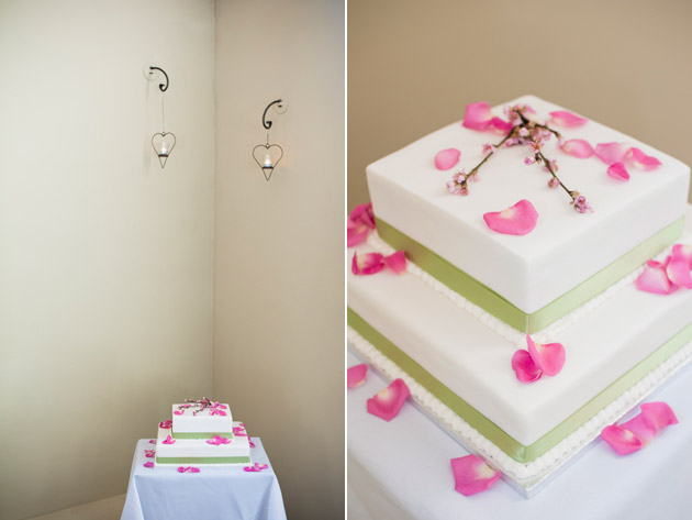 Pink Petals Spring Theme Wedding Cake