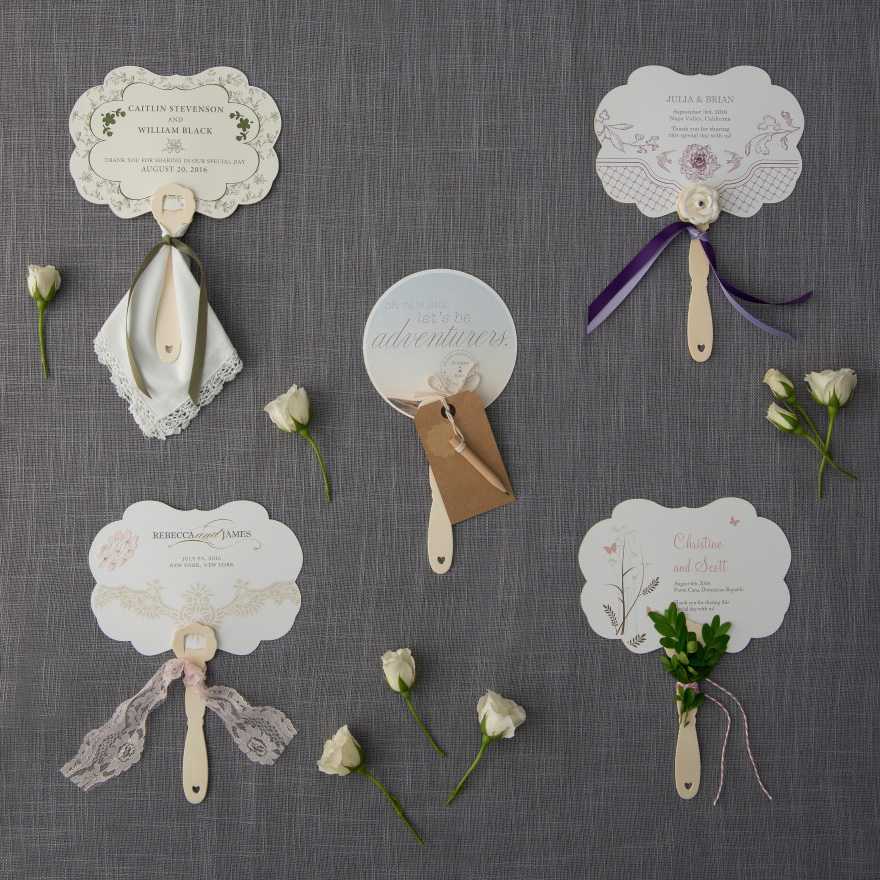 Pretty Personalised Hand Fans - Summer Wedding Favour Ideas - DIY Wedding Hand Fans | Confetti.co.uk
