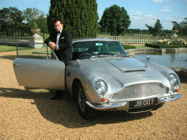 Aston Martin driven by James