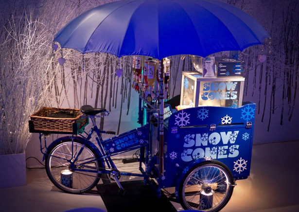 Snow cone tricycle