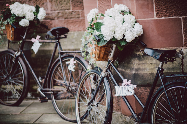 Mr & Mrs Bicycles at Janine and Gary's Real Wedding | Confetti.co.uk