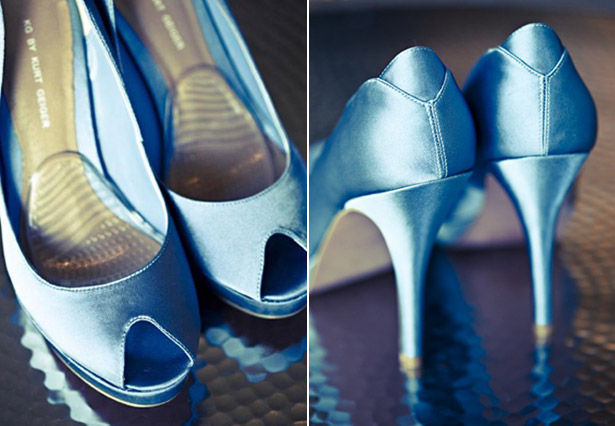 Blue Kurt Geiger shoes