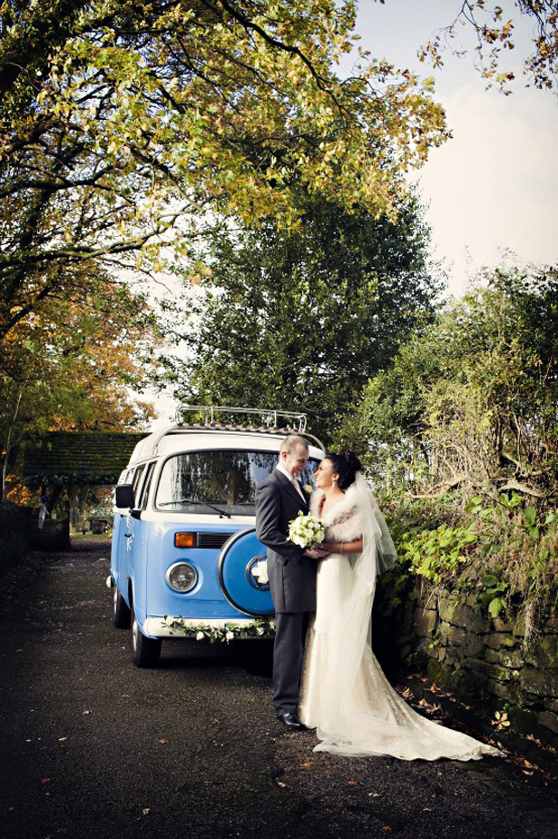 Bride And Groom with campervan