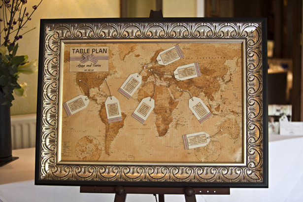 Vintage map table plan