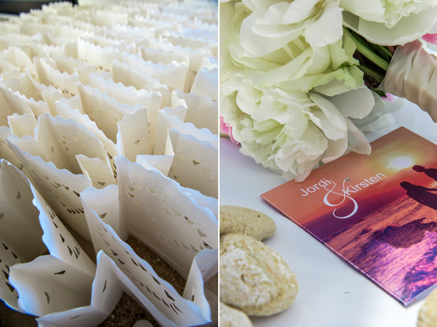 Confetti and wedding program