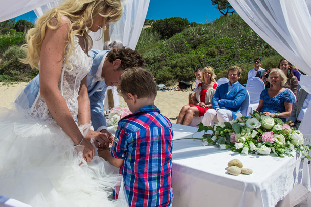 Ringbearer delivers wedding rings