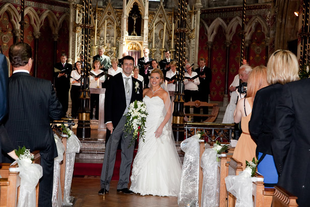The Newlyweds Standing Before the Alter