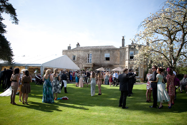 Wedding Guests On The Lawn Of Guyers House Hotel