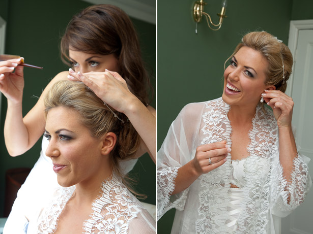 Bride Getting Ready Make-up Hair and Accessories