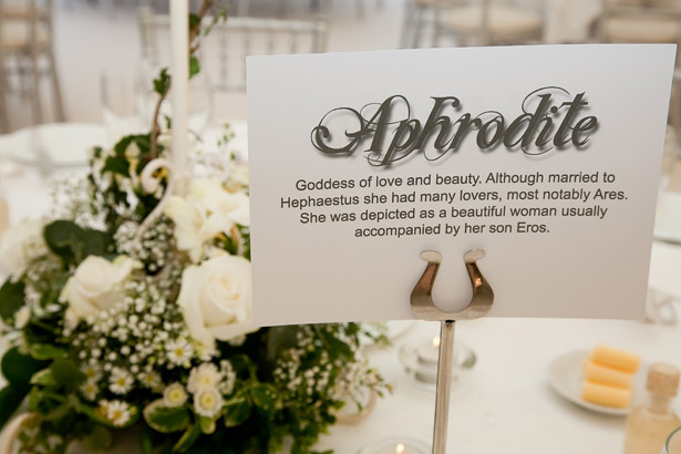Greek Themed Table Names