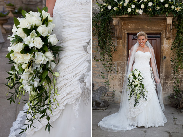 Tristan and Joanna Bride Photo with White Flower Bouquet