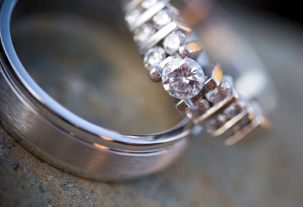 Silver wedding and engagement Rings