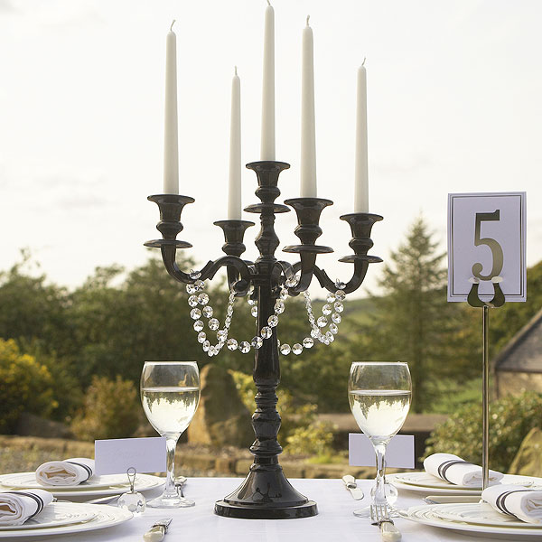 gothic horror wedding candelabra