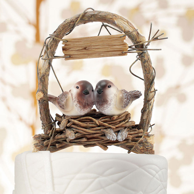 Love Birds in Archway Cake Topper