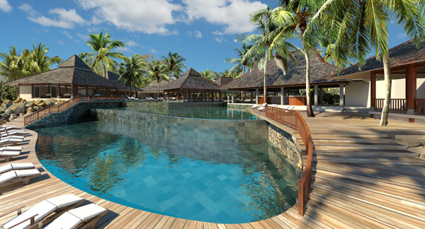 Luxury Holiday Cabin Relaxing Swimming Pool