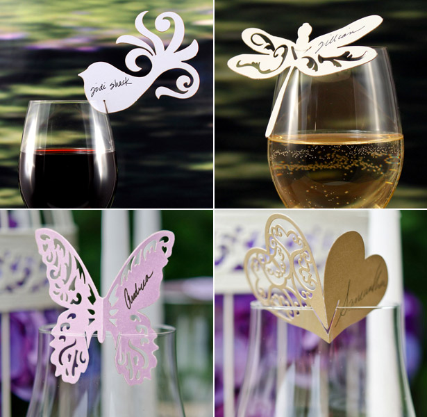 Ornate laser decorated glass cards