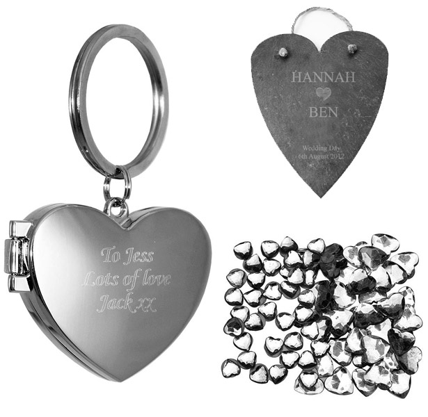 personalised valentines day gift heart key ring