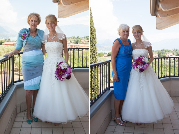 Bride with her mum and mother in law