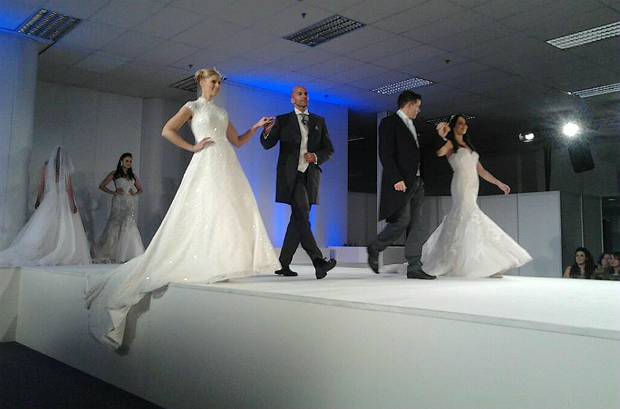 UK Wedding Show dress catwalk