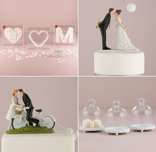 Retro cake toppers and wedding accessories