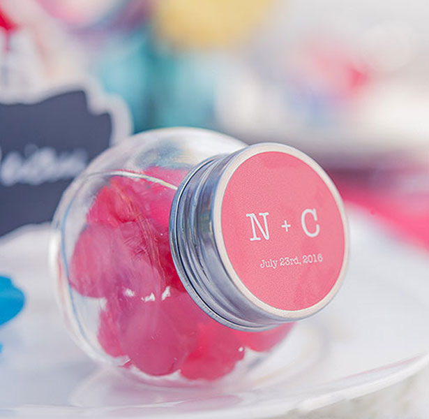 Candy colourful wedding favour