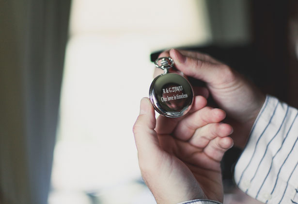 Personalised stop watch for the groom