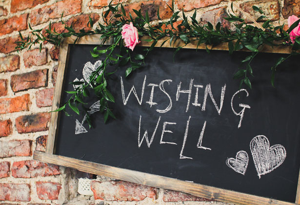 Wishing Well chalk board