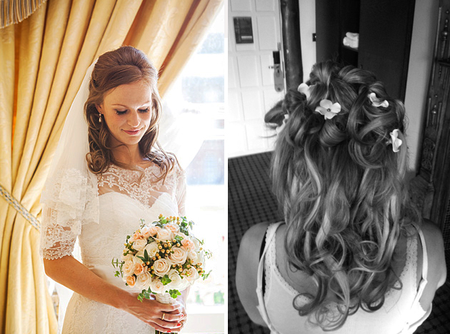 Hair half up half down wedding hairstyle for bridal inspiration 2014