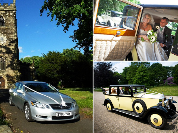 Selection of cars from Midlands Wedding Cars and Primrose Wedding Cars
