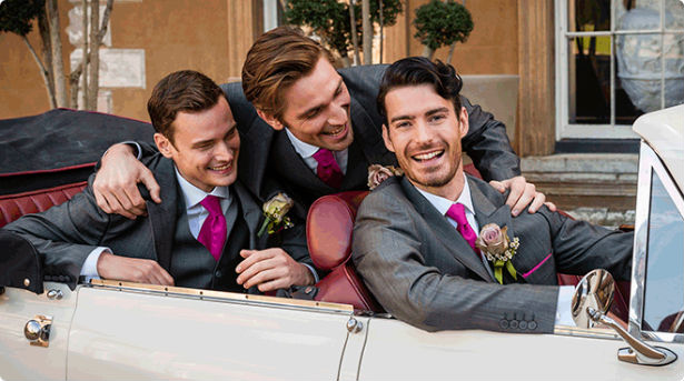 Cameron Ross menswear for the groom