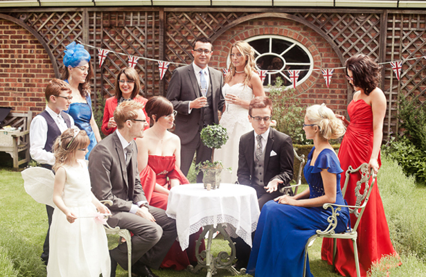 Wedding guests in Bridal Eyewear by Karen Louise