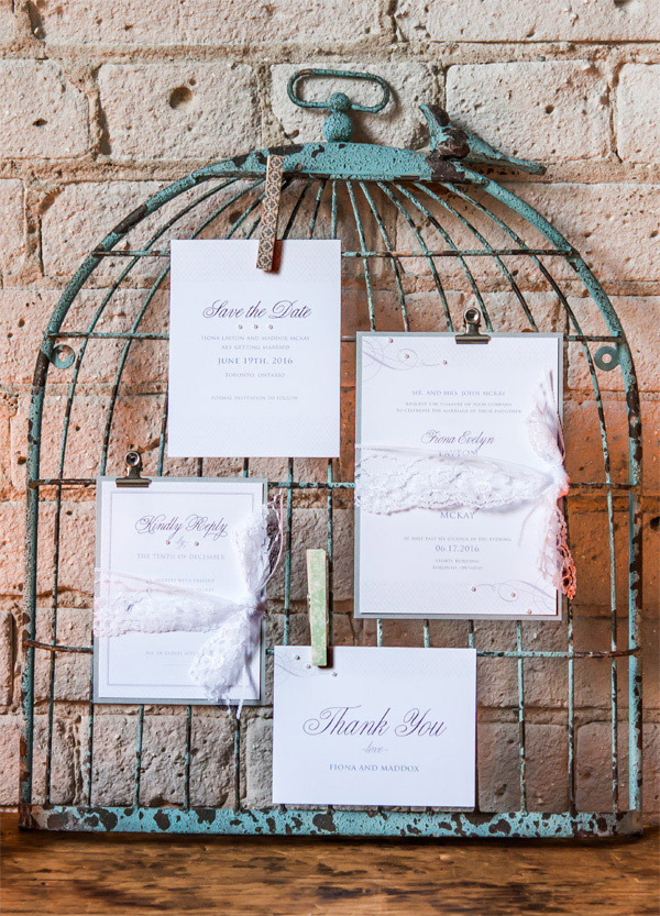 Rustic Shabby Chic wedding stationary: Save the Date Card, Invitation, RSVP, and Thank You Card
