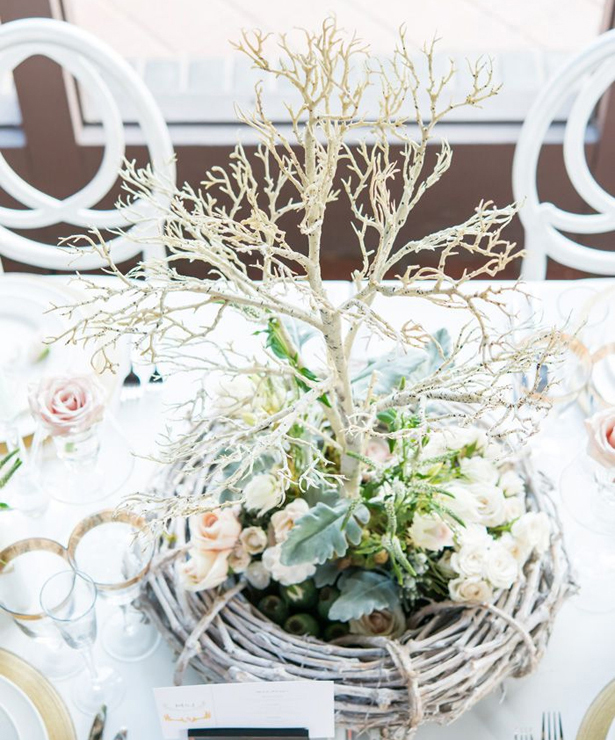 Artificial Birch Branch Centrepiece
