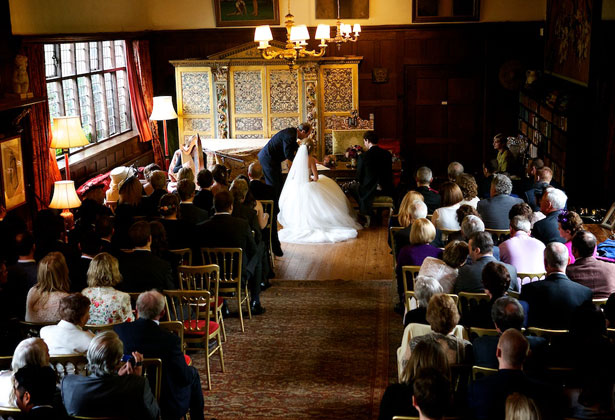 Wedding ceremony at Ramster Hall