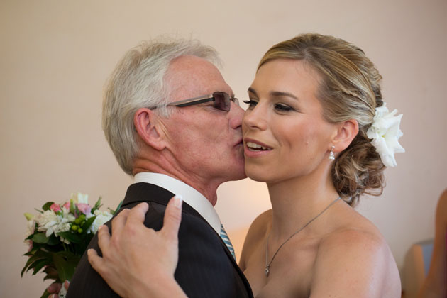 Bride with her father