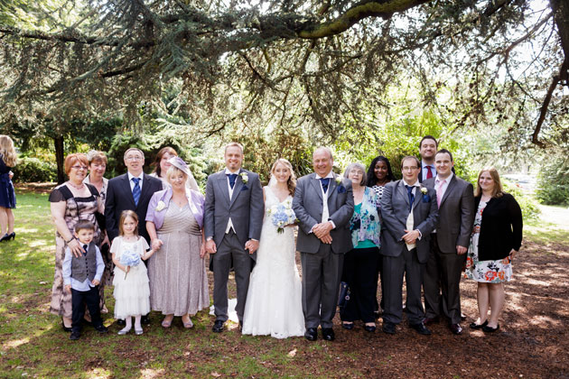 The newlyweds with their family by Douglas Fry