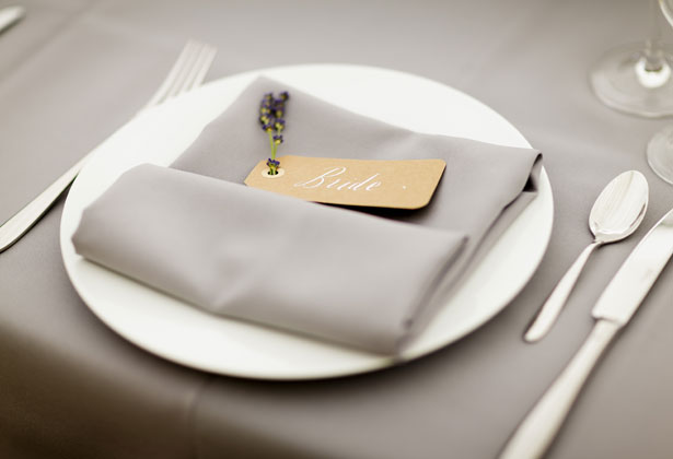 Lavender place card  for the bride