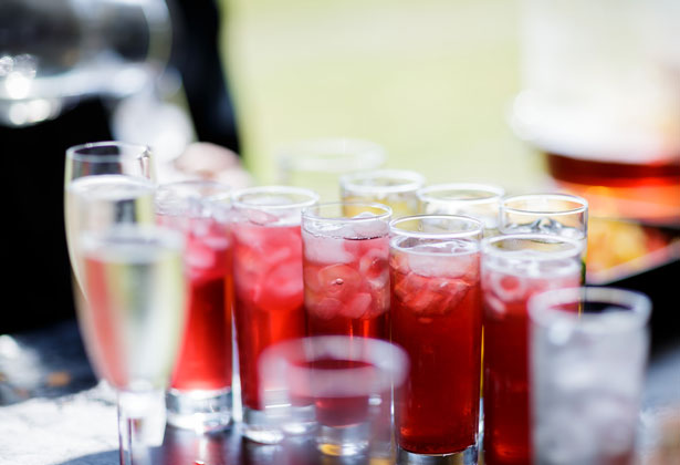 Drinks for the wedding guests