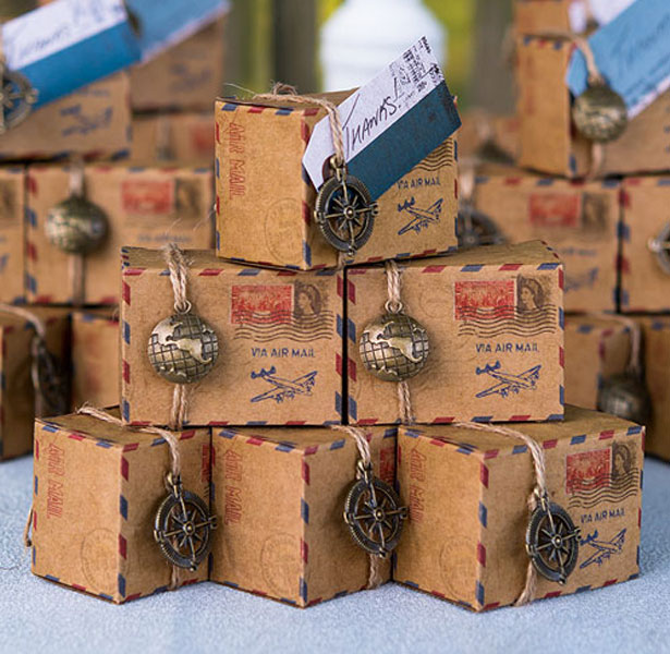 Vintage Inspired Air mail Favour Box Kit