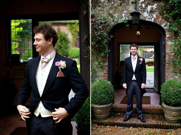 Groom in an Anthony hire suit