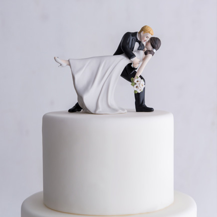 """A Romantic Dip"" Dancing Bride and Groom Couple Figurine - Dancing Wedding Cake Topper 