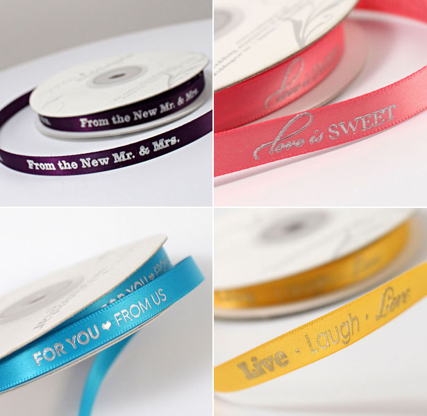 DIY Personalised Ribbons for Favours