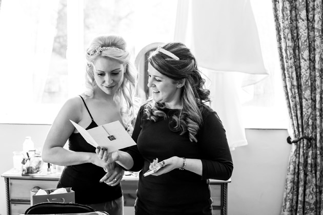 Bride with Bridesmaid Pre-ceremony