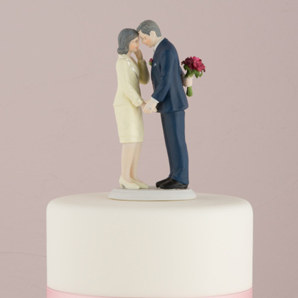 """Still In Love"" Mature Couple Figurine - Older Married Couple Cake Topper 