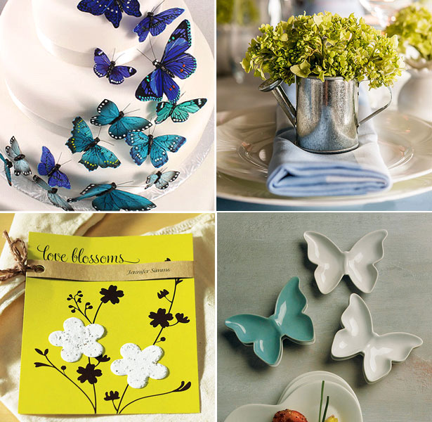 Butterflies, seed strips and a decorative watering can by Confetti
