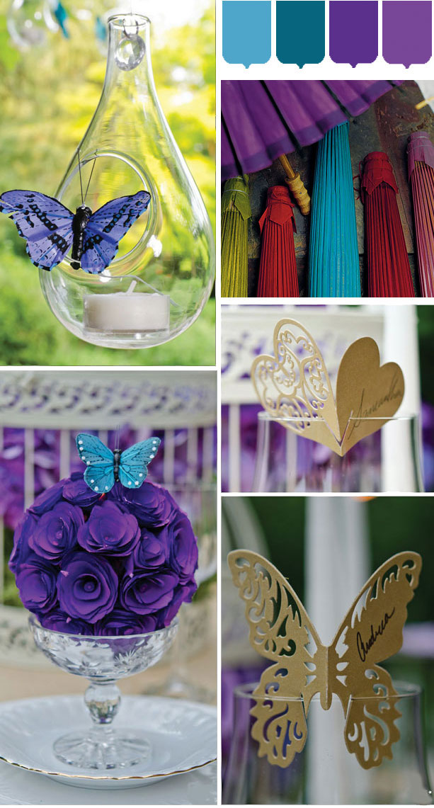 Vibrant blue and purple spring wedding inspiration
