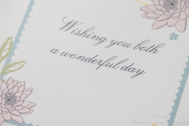 """""""Wishing you both a wonderful day"""" card for the bride and groom"""