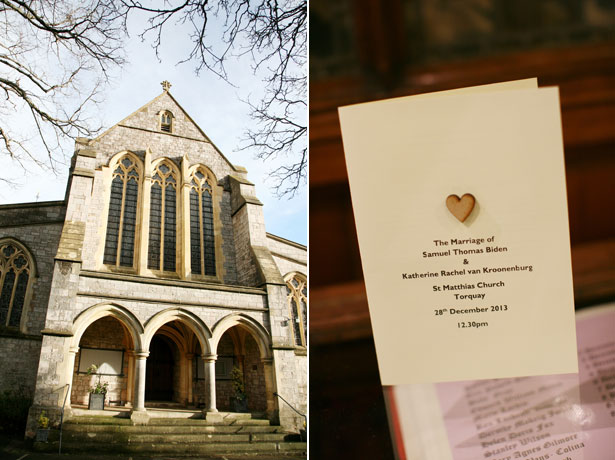 St Matthias Church, Torquay and order of service