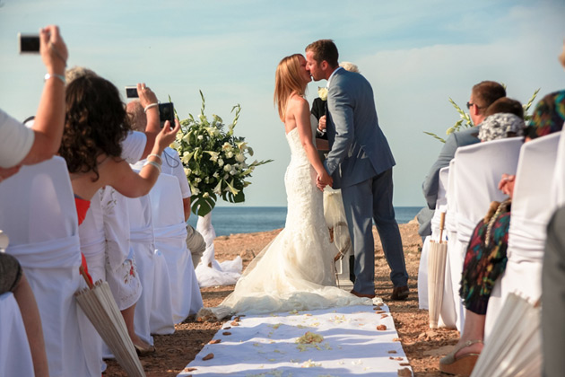 Kate and Rich's real beach wedding courtesy of Ibiza Wedding Shop